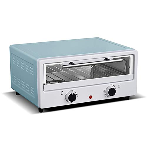 12 Pulgadas Eléctrico Hornos para Pizza Soltero Capa Independiente Temperatura y Hora Controlar Acero Inoxidable Hornear Tostadora para Pizza, Pasta, Junquillo, Pasteles