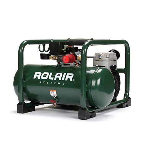 Rolair Hand Carry Portable 2HP Air Compressor Rolair JC20 Super Quiet 70dB 115 Volt