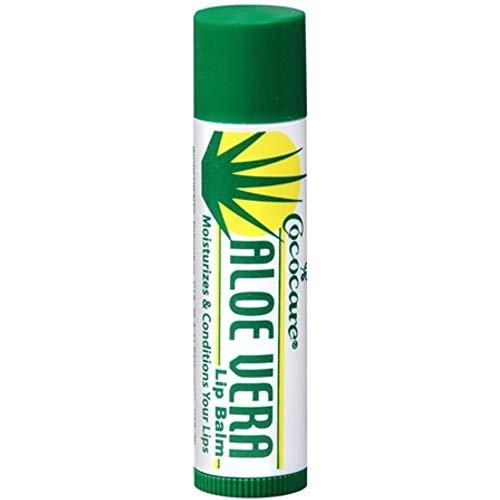 Cococare Aloe Vera Lip Balm 0.15 Oz (Pack of 2)