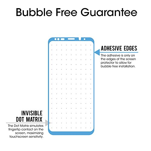 amFilm Glass Screen Protector for Samsung Galaxy S9 Plus, 3D Curved Tempered Glass, Dot Matrix with Easy Installation Tray, Case Friendly (Black)