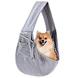 small FDJASGY Small pet carry bag, reversible pet carry bag, shopping bag with pockets …