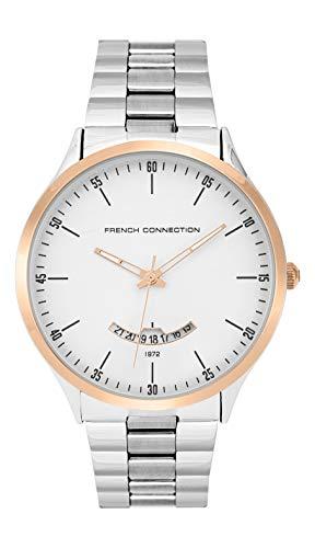 French Connection Herren Analog Quarz Uhr mit Edelstahl Armband FC143SRGM