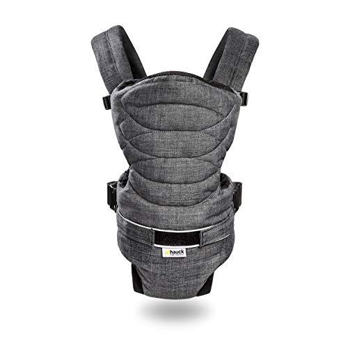 Hauck 2 Way Carrier ergonomische Babytrage, Innenraum gepolstert, hoher Tragekomfort, zwei verschiedene Tragemöglichkeiten, ab Geburt bis zu 9 kg - Grau