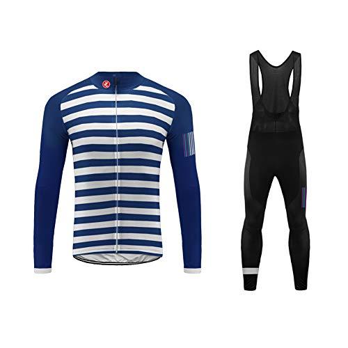 Uglyfrog Frühling/Herbst Männer Radfahren Kleidung Set Fahrrad Anzug Outdoor Langarmtrikot+ Hose Atmungsaktiv Schnell Trocken (Größe XS-6XL)