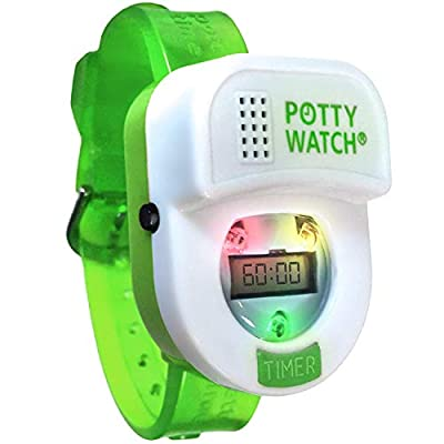 Potty Time: The Original Potty Watch   Newly Improved 2020 ~ Water Resistant   Toddler Toilet Training Aid, Warranty Included (Automatic Timers with Music for Gentle Reminders) (Green) by Potty Time, Inc