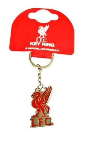 Liverpool F.C. Official Football Merchandise Schlüsselanhänger-Metall-Logo, Verschiedene Fußballteams zur Auswahl alle Schlüsselanhänger Lieferung in offizieller Geschenkverpackung!, Rot - Rot