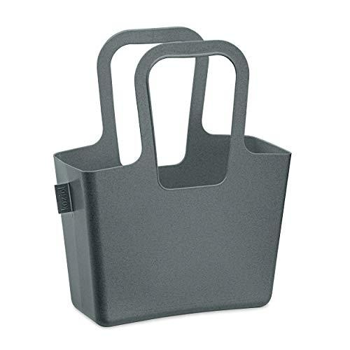 Koziol Tasche Taschelino, Tragetasche, Utensilo, Aufbewahrung, Thermoplastischer Kunststoff, Organic Deep Grey, 5411673