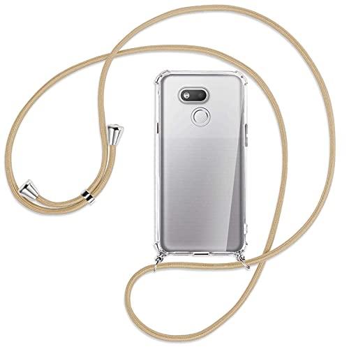 mtb more energy® Handykette kompatibel mit HTC Desire 12s (5.7'') - Caramel - Smartphone Hülle zum Umhängen - Anti Shock Full TPU Hülle