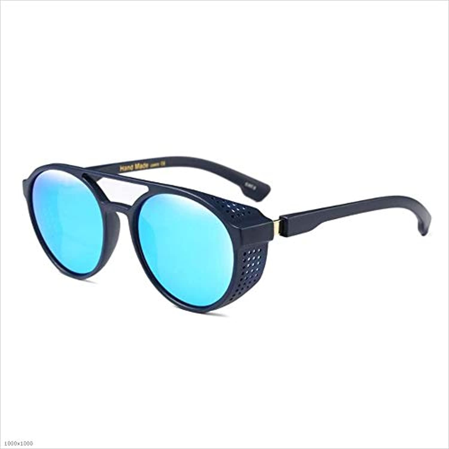 Personality Steampunk Cool UV Predection Sunglasses Beach Driving Vacation Fishing for Women (color   blueee)