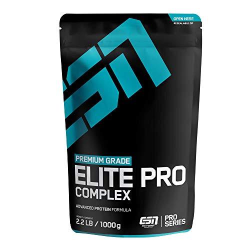 ESN Elite Pro Complex Protein – 1000g – Vanilla – Hochwertiges 4-Komponenten-Eiweißpulver mit wertvollen Aminosäuren – Cremig leckerer Geschmack – 33 Portionen –Made in Germany