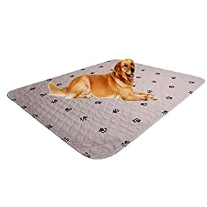 SincoPet Washable Dog Pee Pads + Free Puppy Grooming Gloves,Puppy Pads,Reusable Pet Training Pads,Large Dog Pee Pad (36×41)/Waterproof Pet Pads for Dog Bed Mat/Super Absorbing Whelping Pads