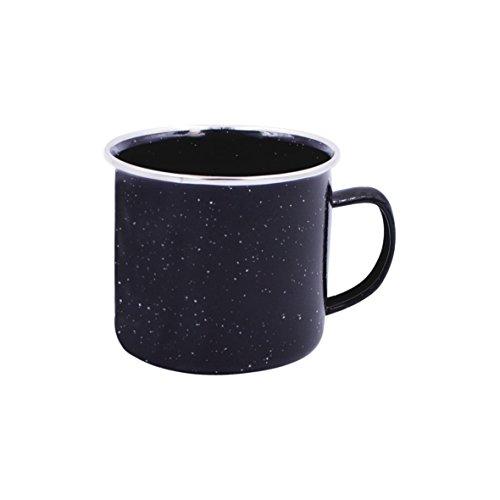 Milestone Assiette émaillée Noire Noire, 24 cm