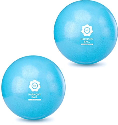 HARMONY BALL - Juego de 2 pelotas de pilates y pelota de gimnasia sin ftalatos, color azul aguamarina (28 cm)
