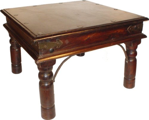 Guru-Shop Table Basse Coloniale en 6 Tailles (kit), Boisd`acacia, Taille : 60 x 60 cm, Tables Basses