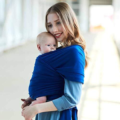 Portabebes, Sunzit Fular Portabebé Unisex Porta bebé Multifuncional para Bebé y Recién nacido - Azul