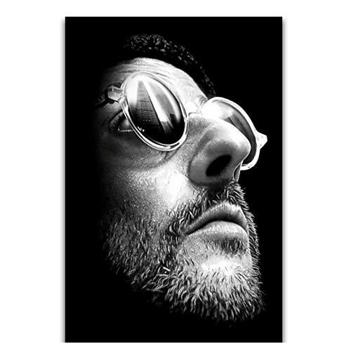 Suuyar Poster Leon Der Professionelle Filmklassiker Jean Reno Schauspieler Wandkunst Malerei Druck Auf Leinwand Poster Dekoration-50x70 cm Kein Rahmen