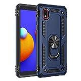 BestST Funda Samsung A01 Core/M01 Core con Anillo Soporte, con HD Protector de Pantalla, Robusta Carcasa Híbrida TPU + PC de Doble Capa Anti-arañazos Caso para Samsung Galaxy A01 Core/M01 Core,Azul