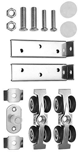 Schiebetürbeschlag für 25 mm Laufprofil (4 Räder für 60 kg