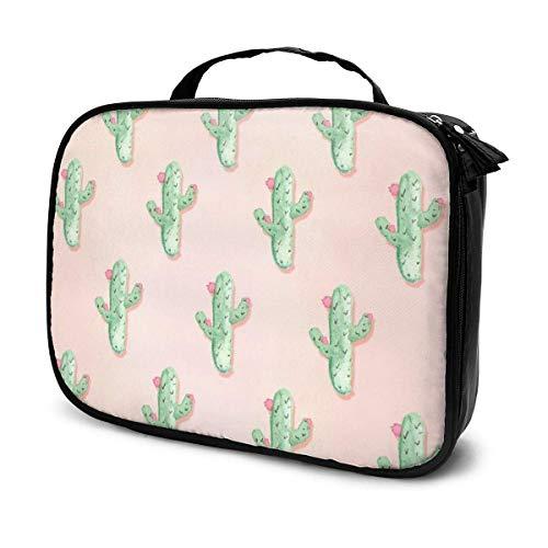 Cactus Pink Toiletry Bag Large Capacity Cosmetic Bag Portable Makeup Pouch Waterproof Travel Hanging Organizer Storage Bag for Women Girls