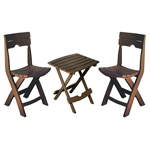 Adams Manufacturing 8595-60-4731 Quik-Fold Conversation Set, Earth Brown