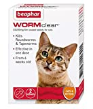 SIPW Vet Strength WORMclear Cat Kitten Worming Wormer Tablet kills Roundworm Tapeworm (Cat WormClear)
