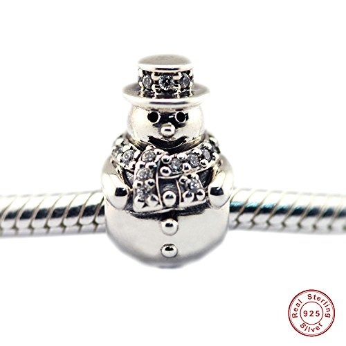 MOCCI Europeo 2016 Regali di Natale Pupazzo di neve Clear CZ Charm Beads 925 Sterling Silver FAI DA TE Adatto originale Braccialetti Pandora Creazione di gioielli