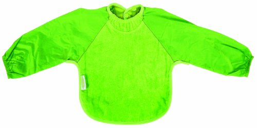 Silly Billyz SIB-205LM Bavoir à manches longues Tissu velours Vert citron Taille M (6-24 mois)