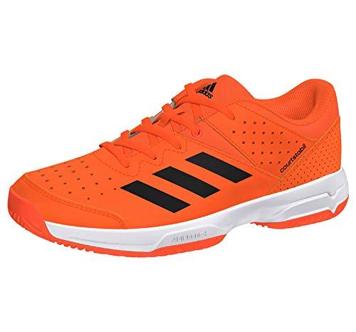 adidas Unisex-Kinder Court Stabil Jr Handballschuhe, Mehrfarbig (Narsol/Negbás/Ftwbla 000), 35 EU