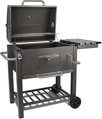 barbecue a carbonella 62x62 bigzzia Barbecue a carbonella con coperchio