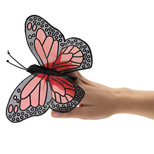 Folkmanis Mini Monarch Butterfly Finger Puppet , Orange, Black