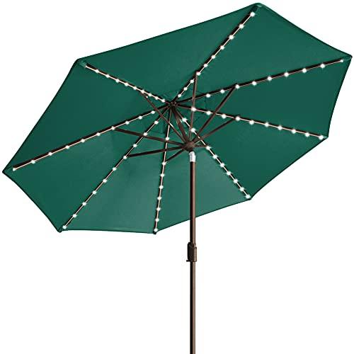 EliteShade Sunbrella Solar Umbrellas 9ft Market Umbrella with 80 LED Lights Patio Umbrellas Outdoor...