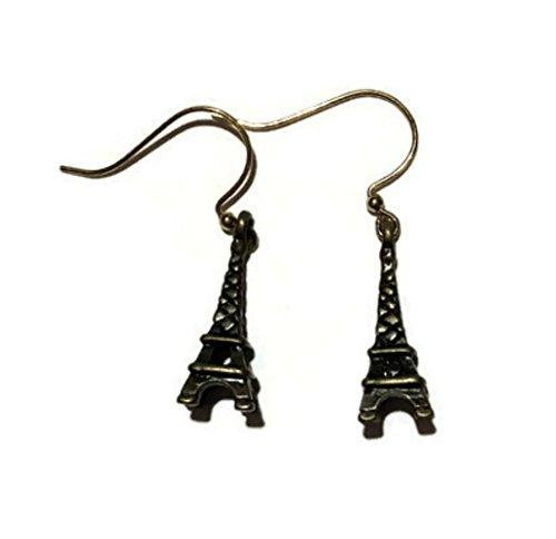 Bronze Gold Eiffel Tower Earrings