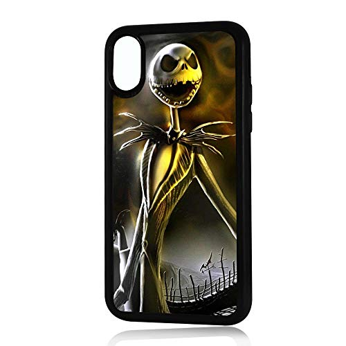 (for iPhone Xs MAX) Durable Protective Soft Back Case Phone Cover - HOT11517 Nightmare Before Christmas 10517