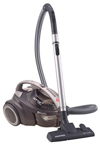 Hoover Sprint Evo SE41 - Aspirador sin bolsa, Sistema ciclónico, Filtro EPA, Cepillo para suelos duros y alfombra, 700W, Depósito fácil de vaciar 1,5L, 80dBA, Cable 7,5m, Potencia fija, Gris