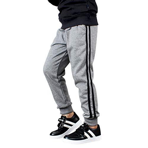 De feuilles Pantalons de survêtement Garçons Enfants Pants Rayure de Jogging Décontracté avec Corde de Serrage Élastique en Coton avec Poche