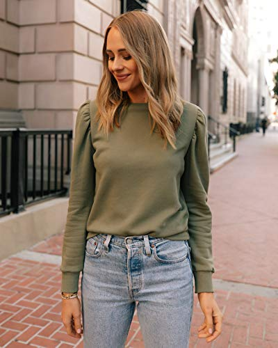 The Drop Women's Olive Puff Sleeve Sweatshirt by @fashion_jackson
