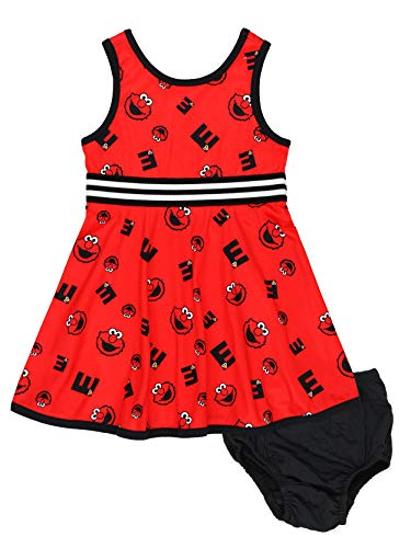 Isaac Mizrahi Loves Sesame Street Elmo Baby Toddler Fit and Flare Soft...