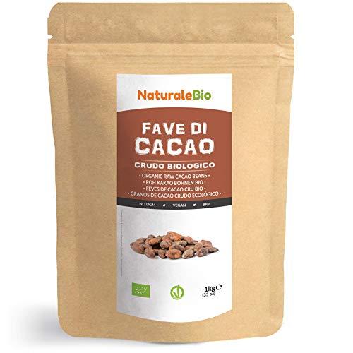 Granos de Cacao Crudo Ecológico 1Kg. 100% Bio, Natural y Puro. Cultivado en Perú a partir de la planta Theobroma cacao. NaturaleBio
