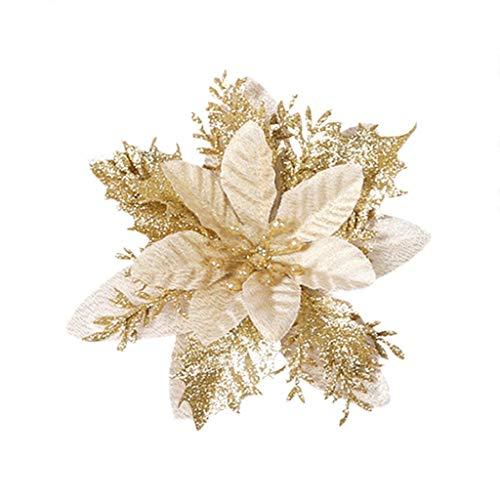 CROSYO 1 UNID Navidad Navidad Flores Artificiales Ornamento Brillante Piedra A Cerca...