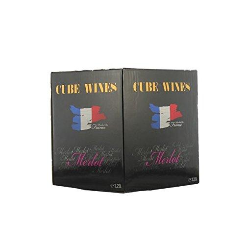 Rotwein Frankreich Merlot Cube Wines Bag in Box trocken (1x 2,25L)