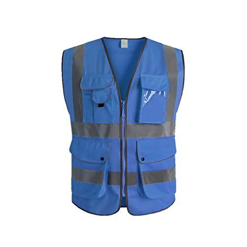 Shop-4 reflecterend veiligheidsvest, veiligheidsvest, voor bestuurders, reflecterend pak, nachtbouw, fluorescerend