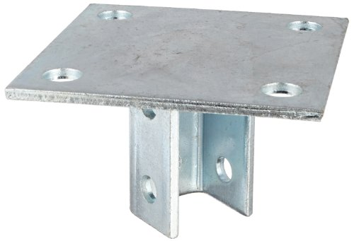 Morris Products 17452 Post Base Single Channel, 4 Hole, Standard, 3-1/2' Channel