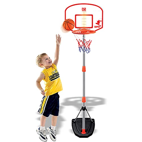 Liberty Imports Junior Electronic Basketball Hoop Stand Indoor & Outdoor Basketball Game with Scoreboard (Lights and Sounds)