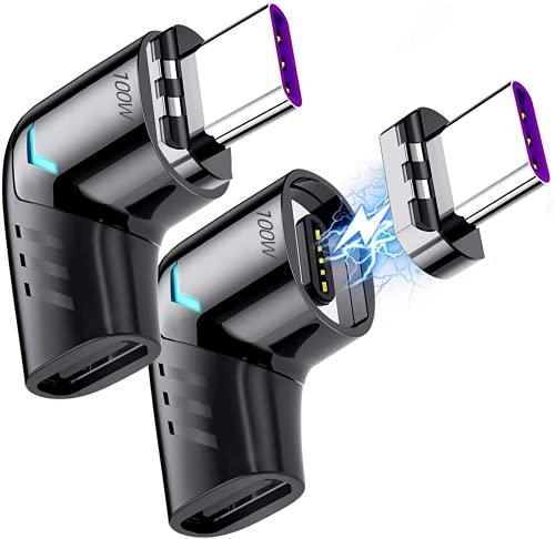 Sisyphy Adaptador magnético USBC de 5 Pines Tipo C,USB PD de 100W de Carga rápida,Transferencia de Datos 480Mbp/s,sin Salida de vídeo,Compatible con MacBook Pro/Air y principalmente Dispositivos USBC