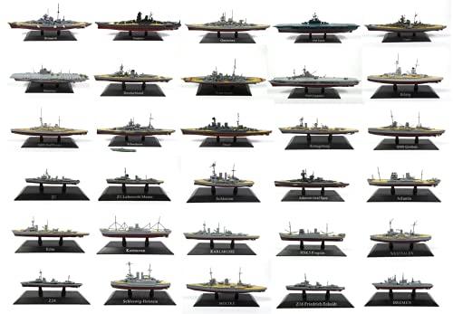 OPO 10 - Lote de 30 Buques de Guerra y portaaviones 1/1250: Bismarck + Yamato + TIRPITZ + Atlantis + Hood + Bremen .... (WSL36)