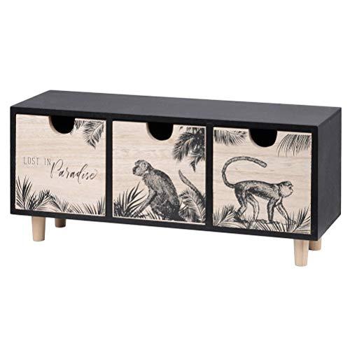 Le Monde des Animaux - Caja de madera (30 x 9 x 13,5 cm), diseño de camuflaje
