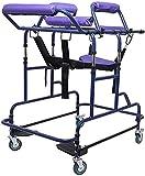 CDFCB Walker para discapacitados Adulto Ajustable Alto Soporte Double Soporte Rollator Rollator Adulto Caminante Adulto Ayuda a la incapacidad del Andador para Practicar de pie y c