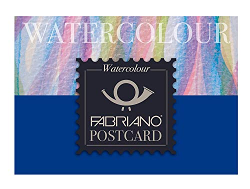 Fabriano Watercolour Postcards Pad - 20 Sheets - 300gsm White Paper