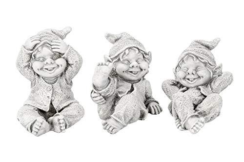 Gartenzaubereien Wichtel/Gnom 3 Modelle