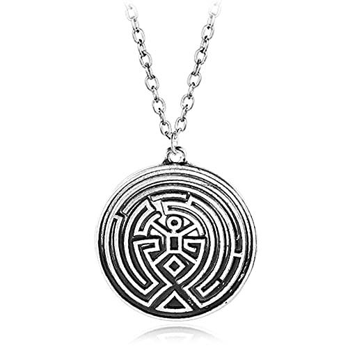 Collar Espiritual Colgante Mandala Tibetano Laberinto Geométrico Aleación Colgante Collar Amuleto Geométrico Joyería Religiosa Tendencia Personalidad Accesorios